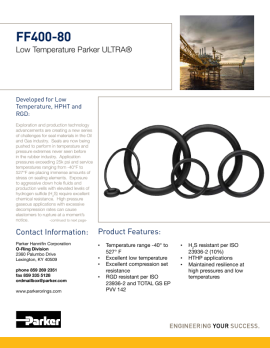 pdf FF400-80 Low Temperature Parker FFKM O-Rings image