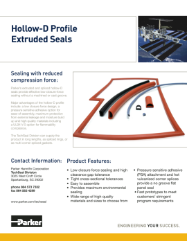 pdf Hollow D Profile Extruded Seals image